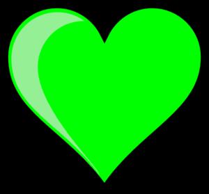 Neon Green Bubble Heart Clip Art at Clker.com.