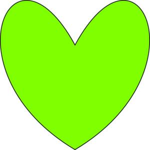 Green Heart clip art.