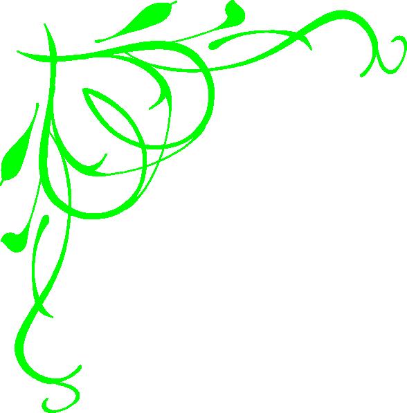 Lime Green Heart Swirls Clip Art at Clker.com.