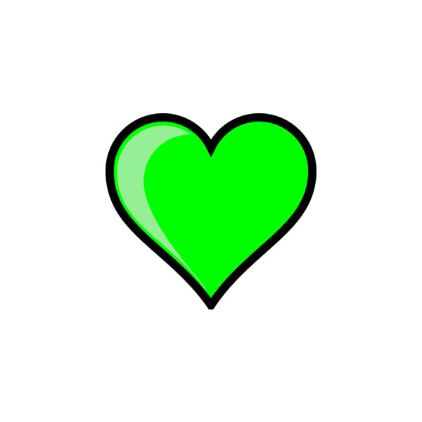 lime green heart clip art #15