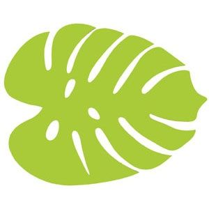 Lime green leaf clipart.
