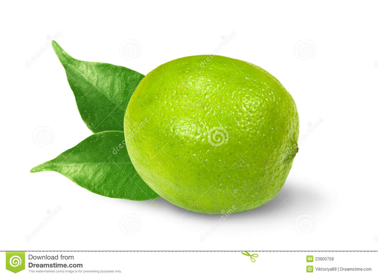 Lime With Leaves Royalty Free Stock Images.