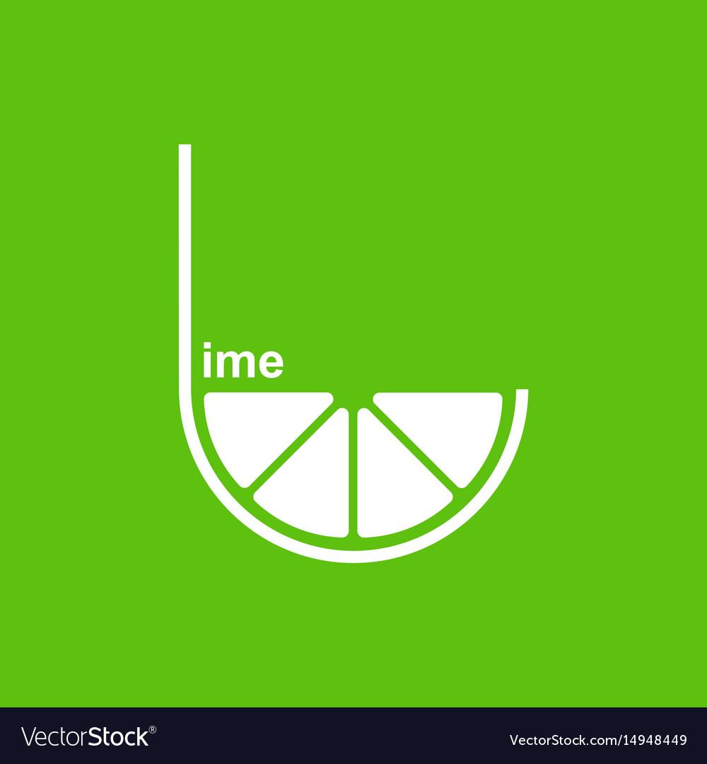 Green lime logo design template.