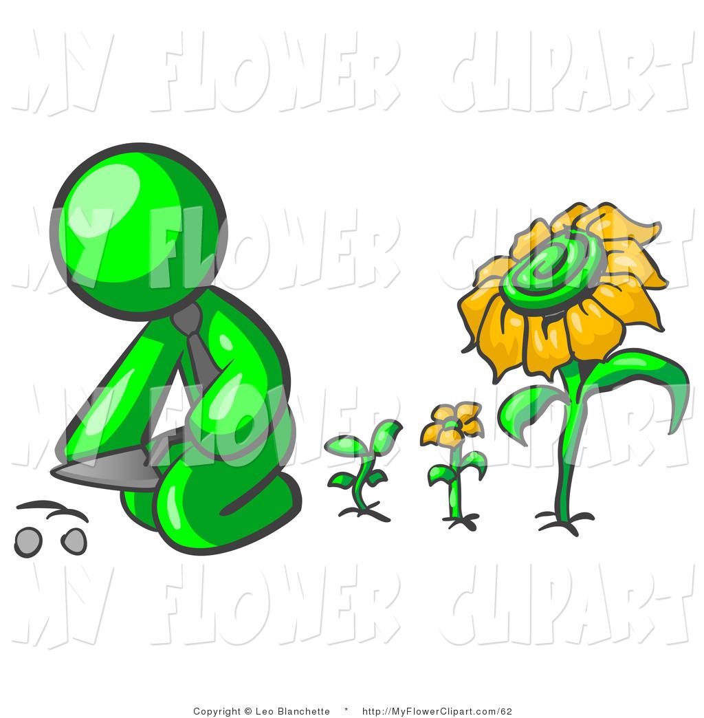 Lime Green Flower Clipart.
