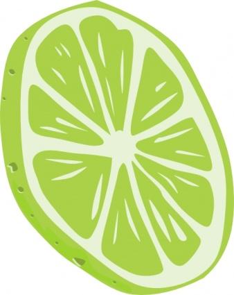 Lime (slice) clip art free vector.