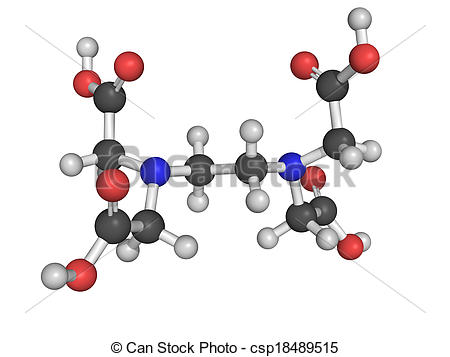 Stock Photography of EDTA chelating agent used to dissolve.