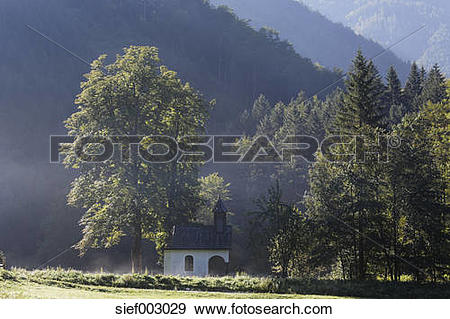 Stock Photograph of Austria, Upper Austria, View of Limestone Alps.