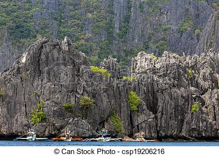 Stock Photography of Limestone cliff in Palawan.