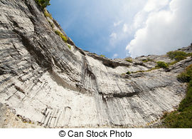 Stock Photography of high cliff edge.