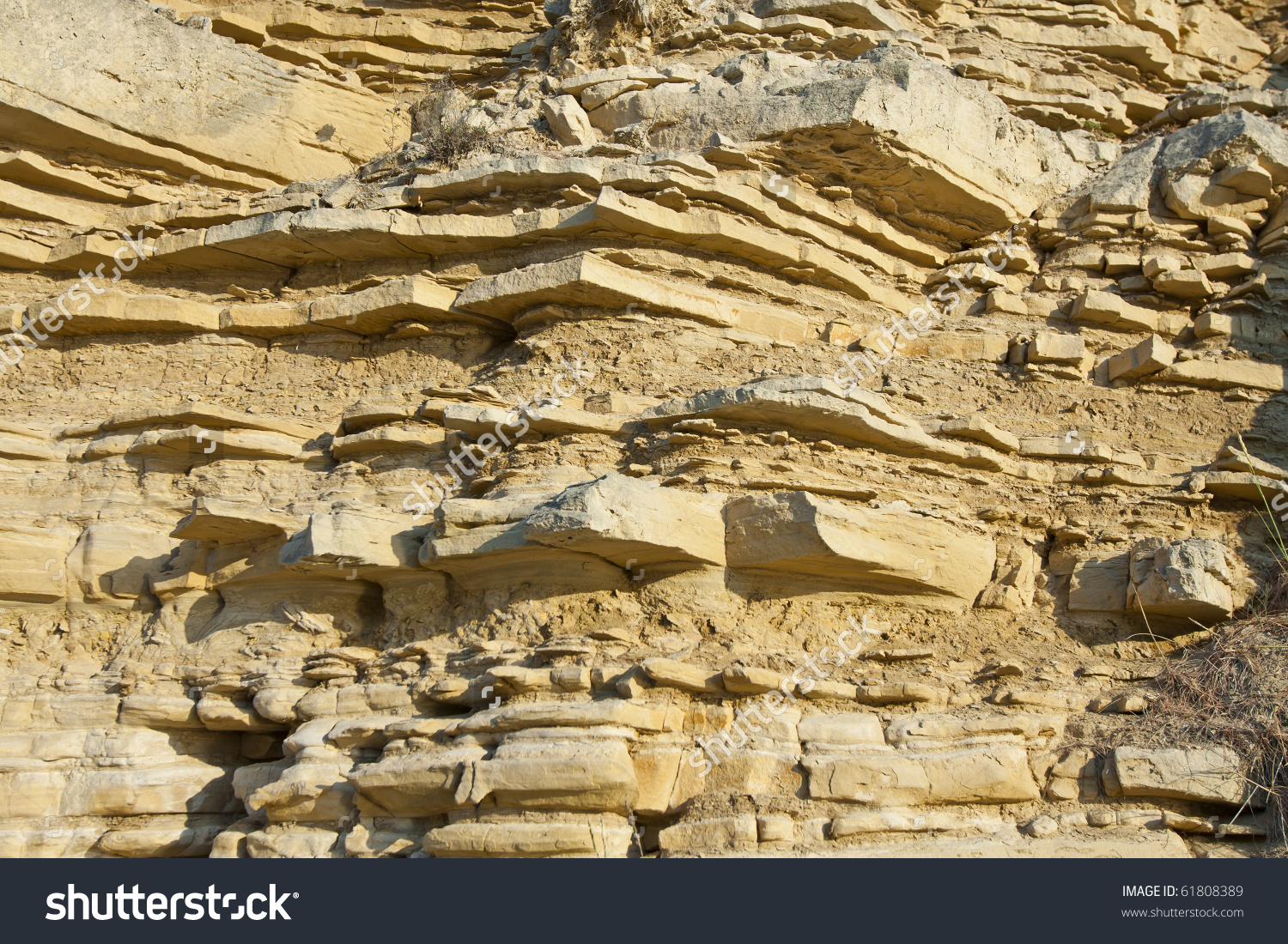 Geological Layers Earth Layered Rock Stock Photo 61808389.