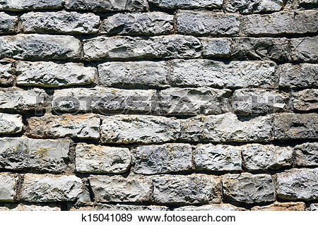 Stock Photograph of Rustic Limestone Wall k15041089.