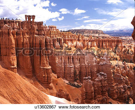 Picture of uppermost layer many hoodoos dolomitic limestone.