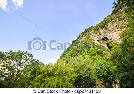 Stock Photos of Ant eye view of Khao Chakan is a limestone.