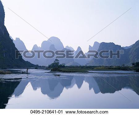 Stock Photography of China, Guilin, Yangshou, Guangxi, Typical.