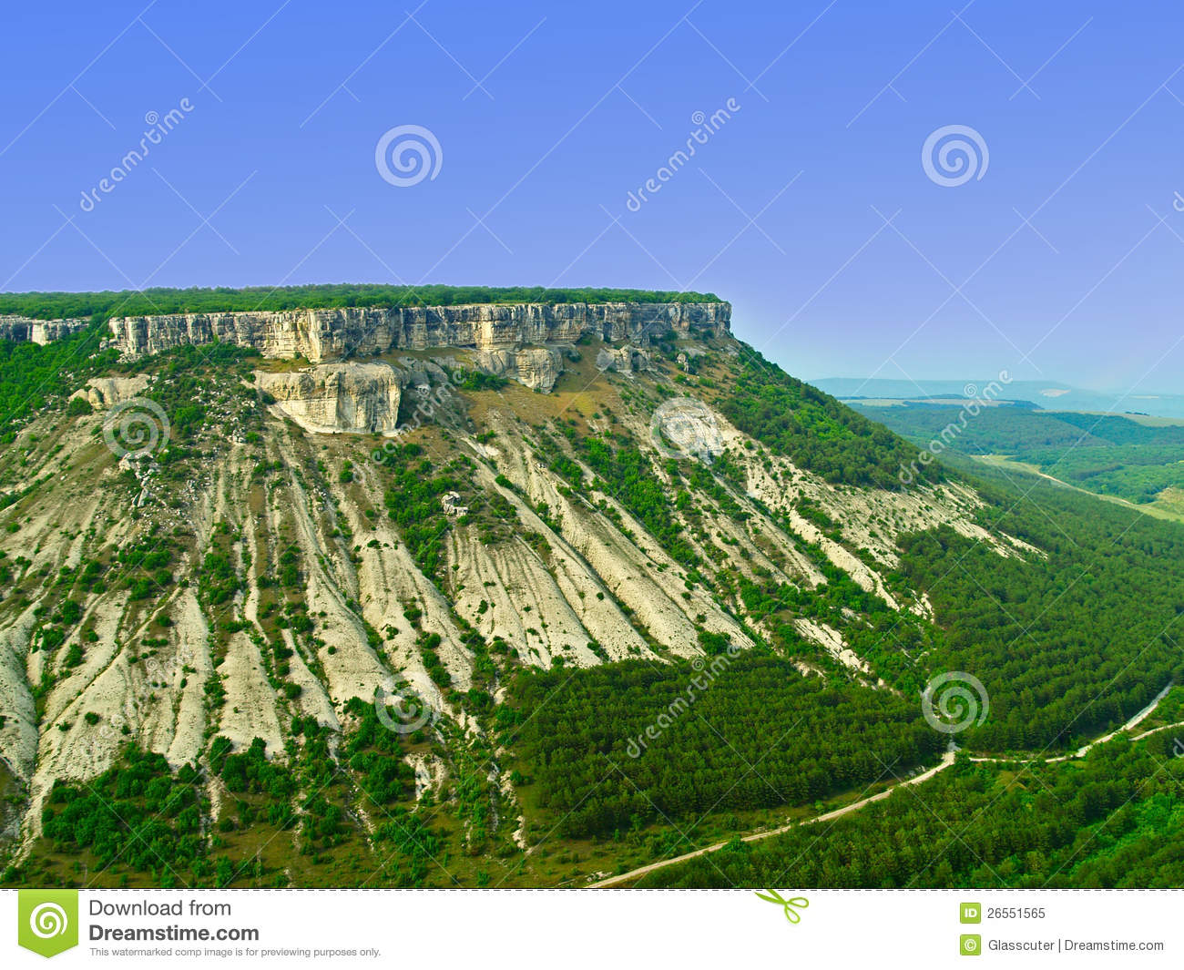 Limestone Plateau. Royalty Free Stock Photo.