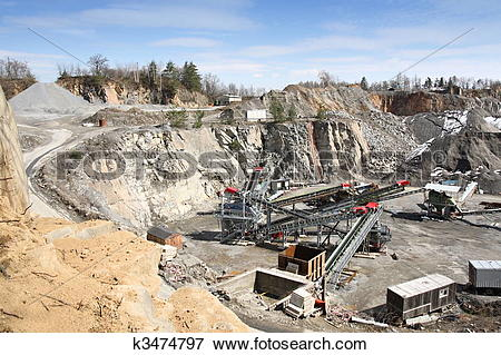 Picture of Mining in the quarry k3474797.