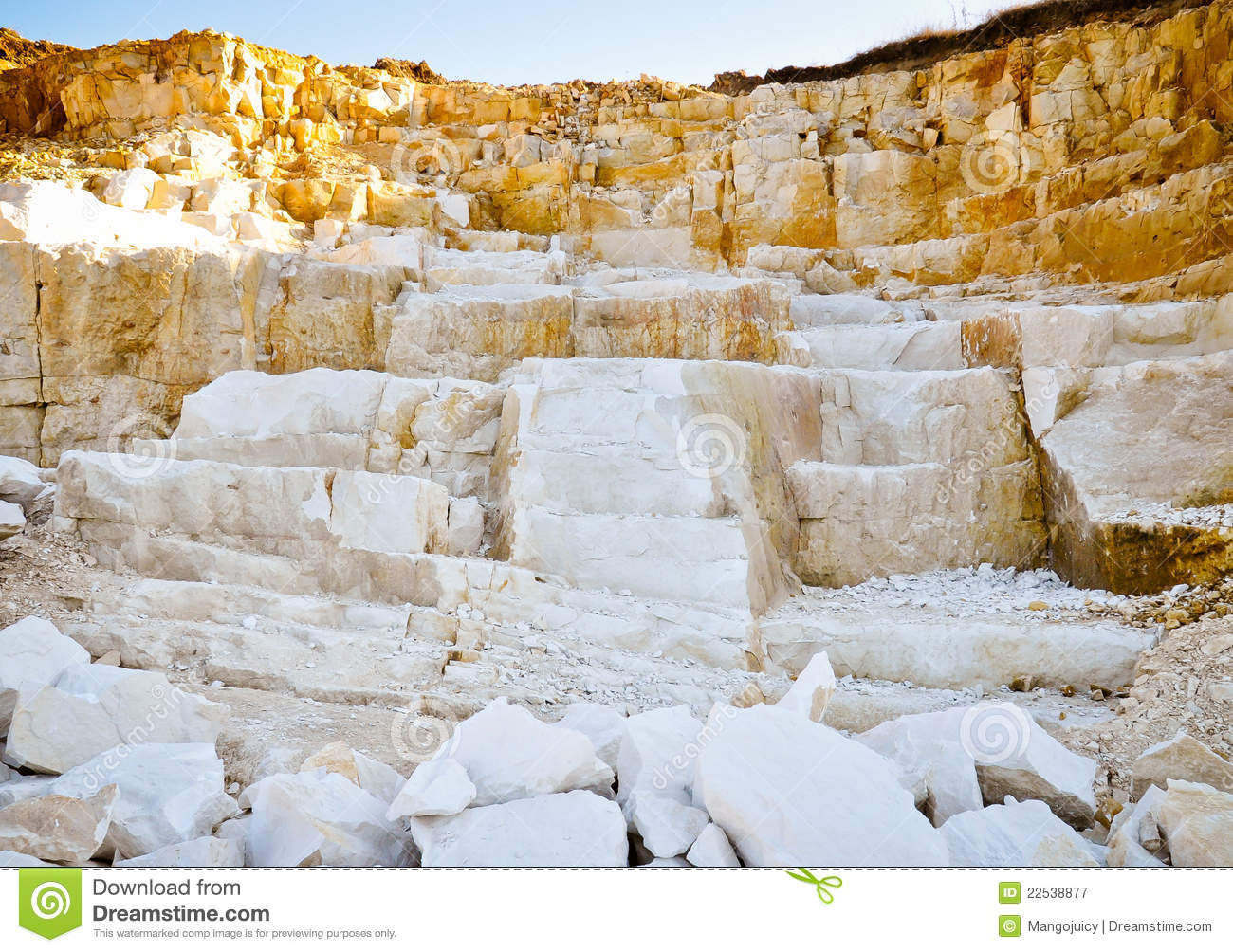 Limestone Quarry Royalty Free Stock Photography.