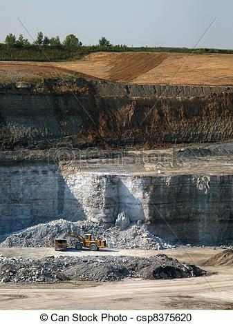 Stock Photography of Limestone quarry.