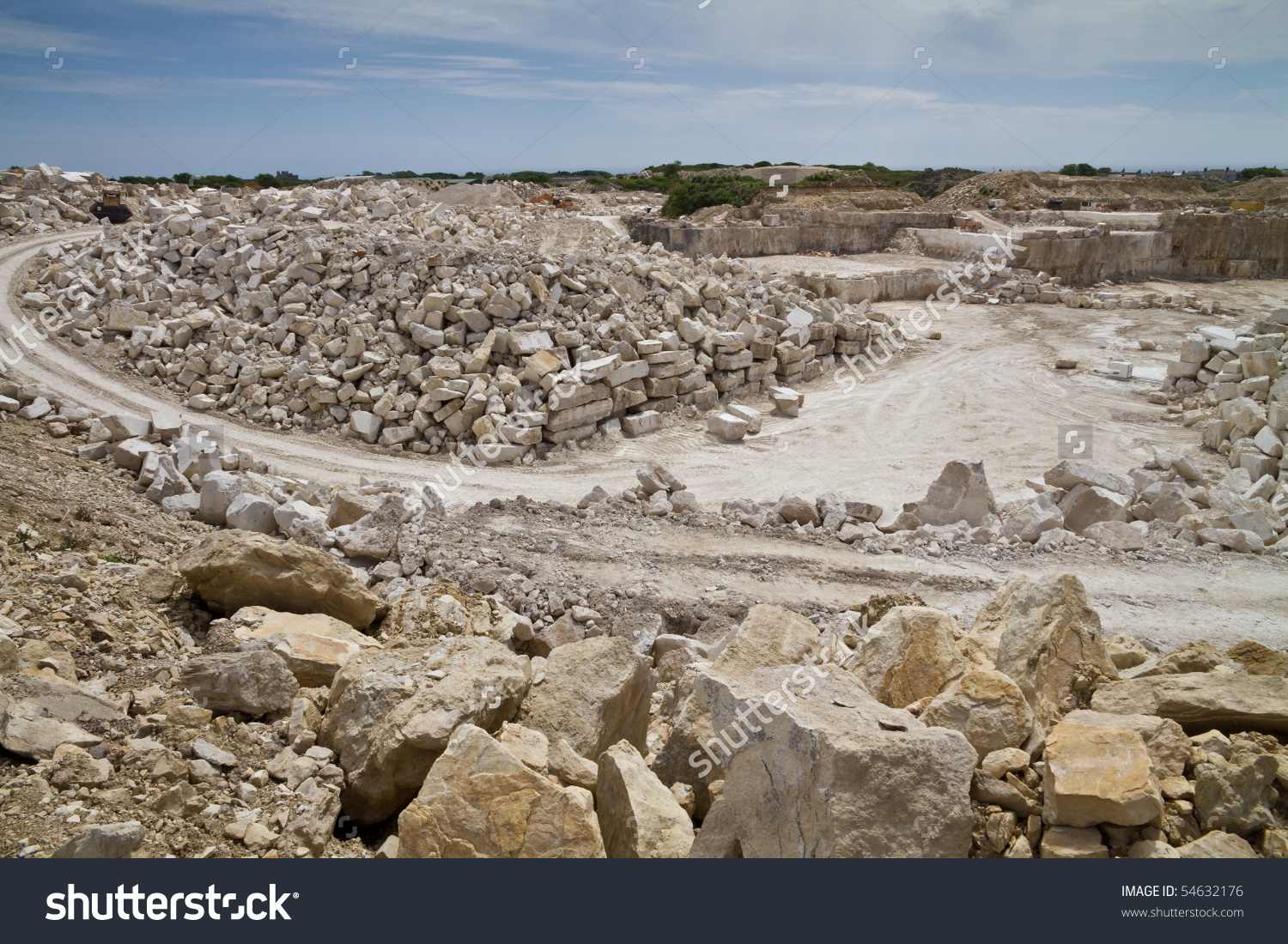 Portland Stone Quarry, Dorset,Uk. This Stone Is A Jurassic.