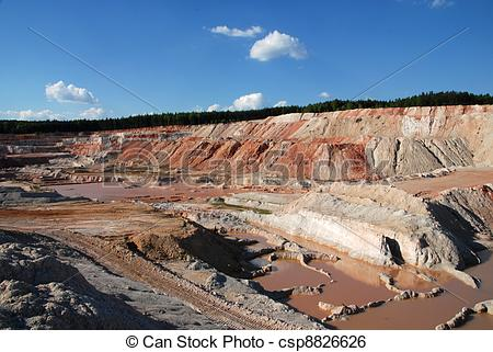 Stock Image of Old quarry.
