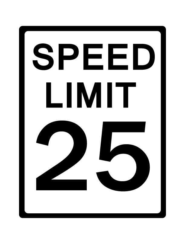 5 Speed Limit Sign Clipart.