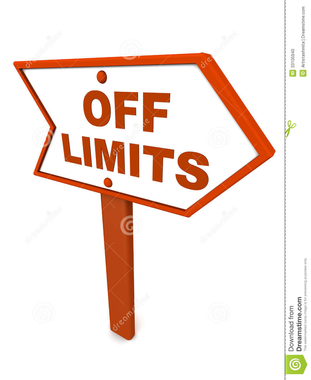 Off Limits Or Out Of Scope Stock Photo.
