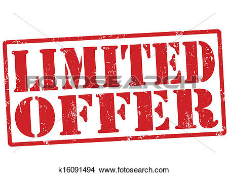 Clipart of Limited offerstamp k16091494.