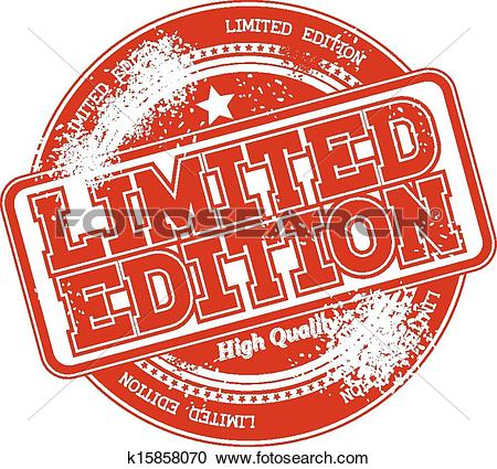 Clipart of limited edition grunge stamp vector k15858070.