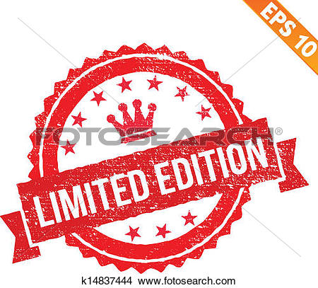 Clipart of Grunge limited edition rubber stamp.