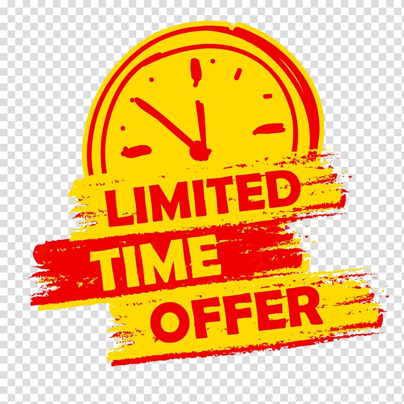 Yellow and black background with limited time offer text.