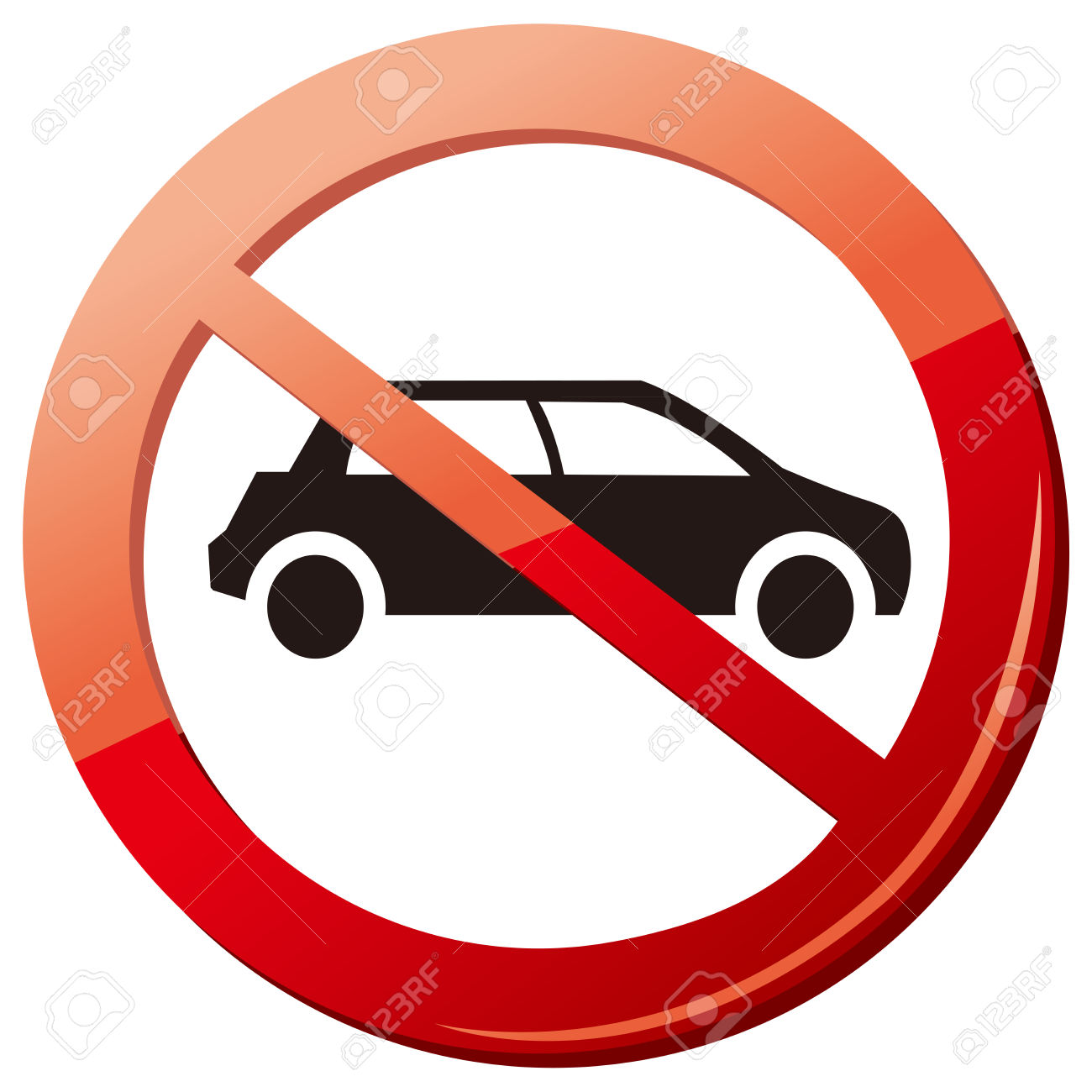No Car No Parking Sign Vector Royalty Free Cliparts, Vectors, And.