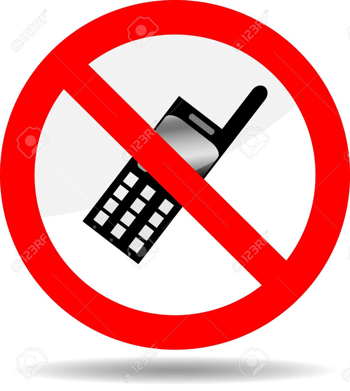 Ban Telephone. Symbol Phone, Prohibited Call Icon, Forbid And.