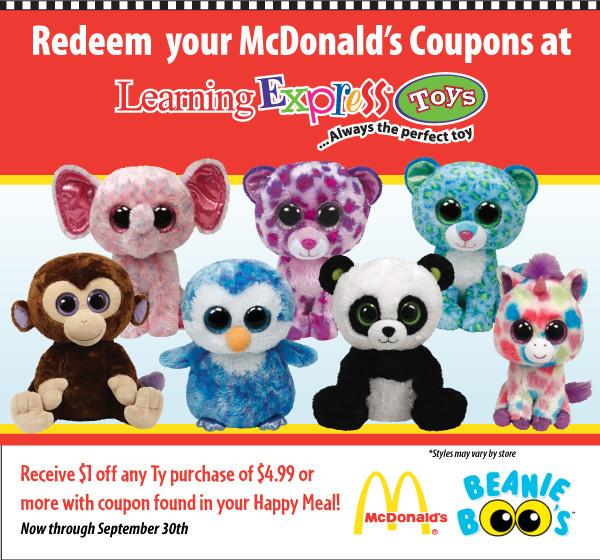 McDonald's Beanie Boo Promo.