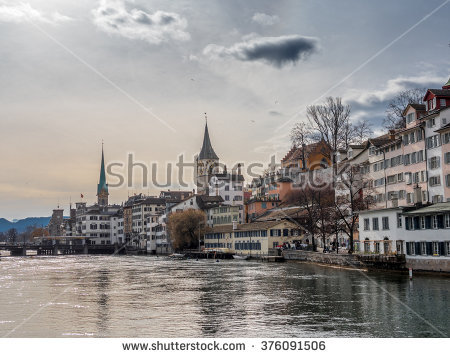Zurich City Stock Images, Royalty.