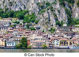 Stock Photography of Garda Lake, Riviera dei Limoni, Italy. Limone.