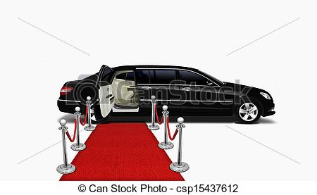 Clipart of black limo and red carpet csp15437612.