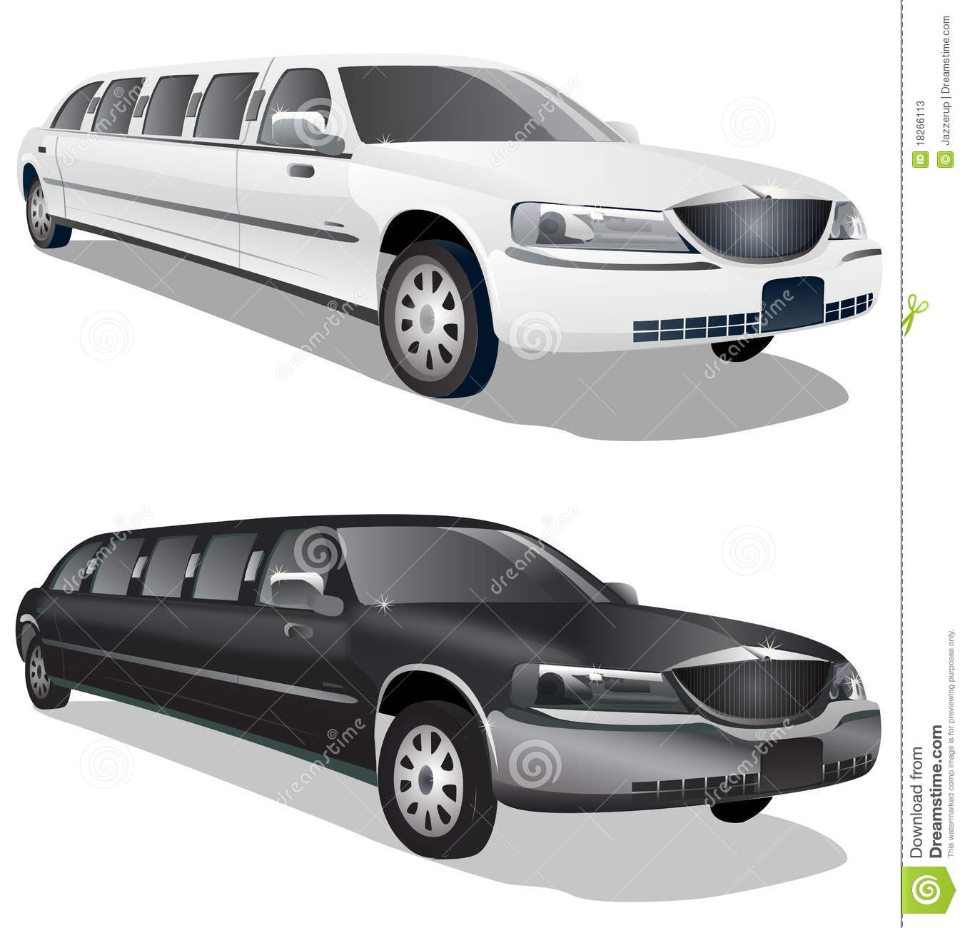 Limousine Party Stock Illustrations.