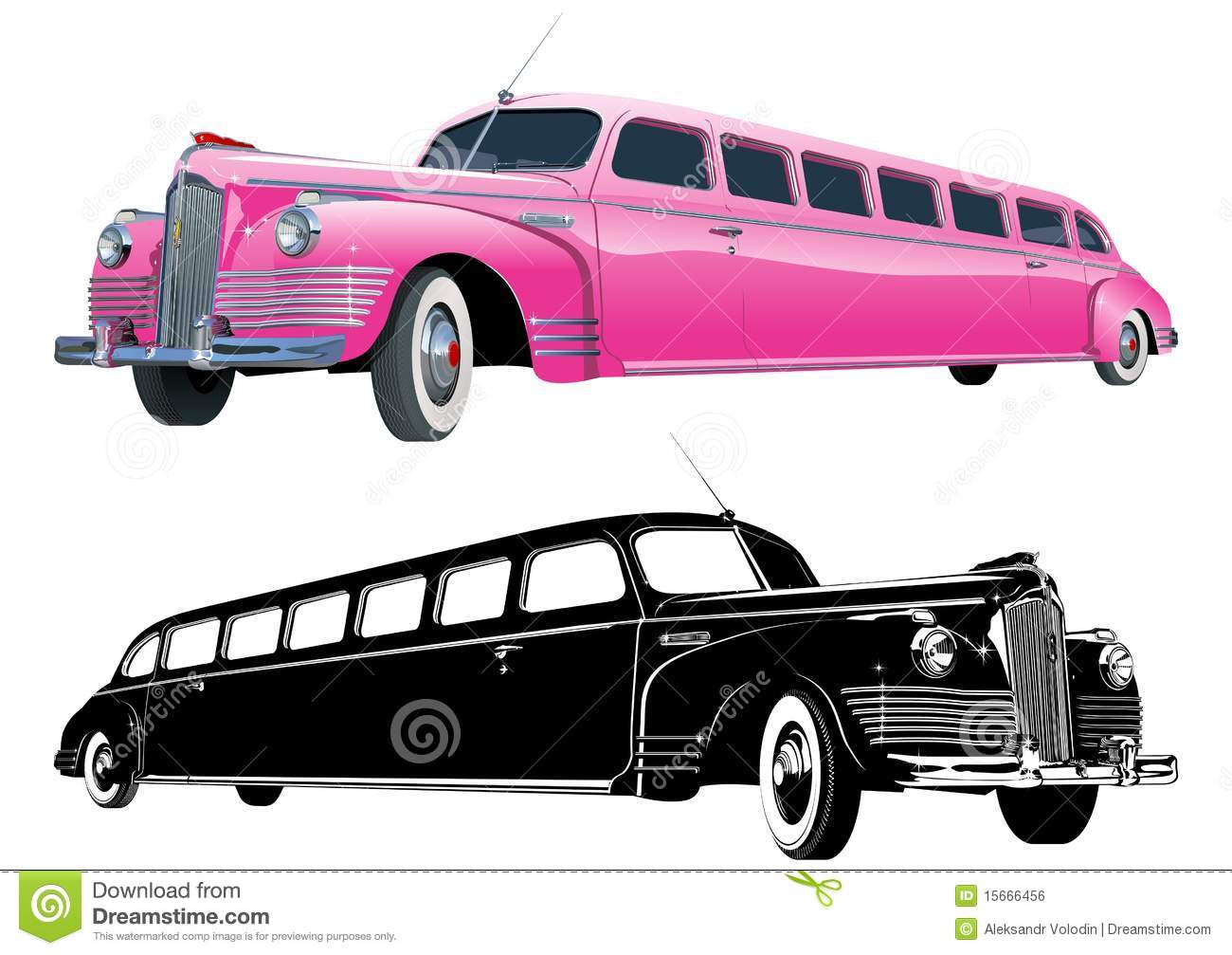 Limo Stock Illustrations.