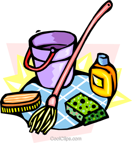 cleaning Royalty Free Vector Clip Art illustration.
