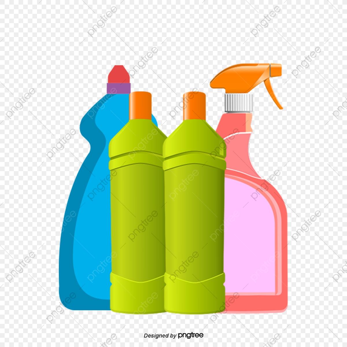 Garrafas De Todos Os Tipos De Produtos De Limpeza, Color, A.