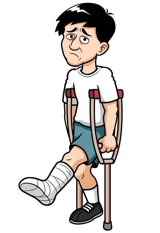 Funny Broken Leg Clipart.