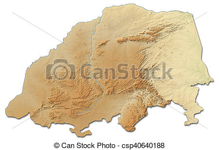 Stock Illustration of Relief map.