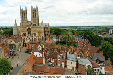 Lincoln Cathedral Stock Photos, Royalty.