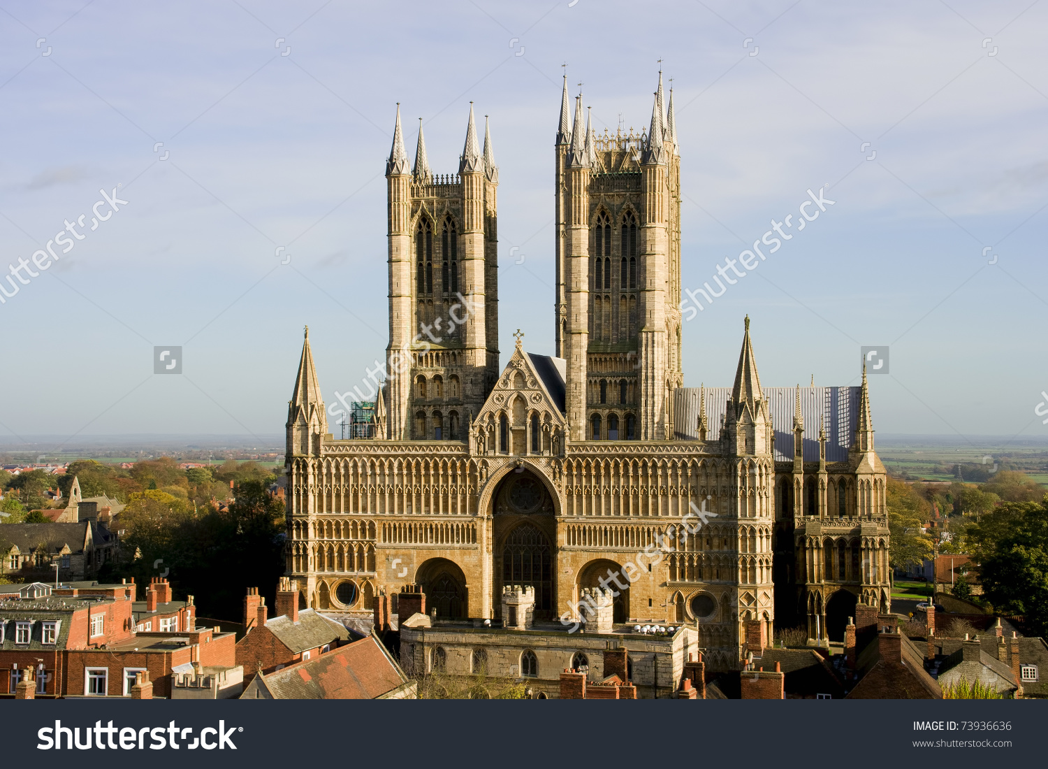 Lincoln Cathedral Also Known Cathedral Church Stock Photo 73936636.