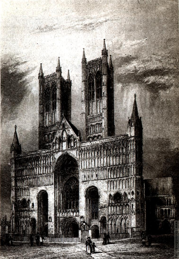 Plate XXVI: Lincoln Cathedral. West Front..