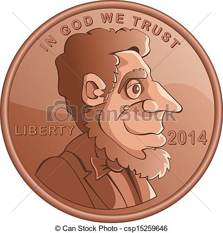 Lincoln Penny Clipart.