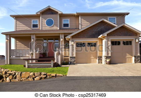 Stock Illustration of Real estate in Lincoln City Oregon..