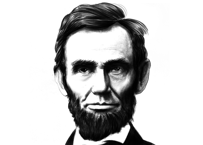 Abraham Lincoln Animated Clipart.