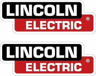 PAIR OF (2) LINCOLN ELECTRIC DECALS 3X8.5 REPLACEMENT WELDER STICKERS p67.