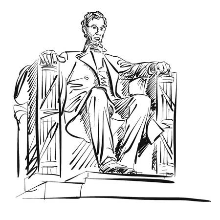 259 Lincoln Memorial Stock Vector Illustration And Royalty.